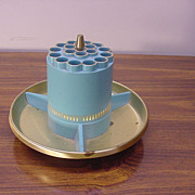 Retro Cigarette holder or Pencil Holder in Blue