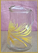 Ice Tea or Lemonade Pitcher with Wheat Design and Ice Lip On this Glass Pitcher