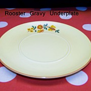 Reveille Red Rooster Gravy Boat Underplate by Taylor Smith and Taylor USA