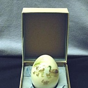 1975 Noritake Easter Collector Egg Limited Edition Mallard Ducks