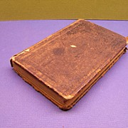 Leather Bound Book 1860 German Bible DIE EWIGE ANBETUNG ~ The Everlasting Adoration ~