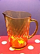 Mellow Gold Glass Iced Tea or Lemonade Pitcher