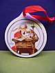 1996 Norman Rockwell Porcelain Christmas Ornament Santa Reading Letters