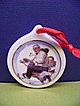 Porcelain Christmas Ornament Norman Rockwell Gramps At the Reins 1997