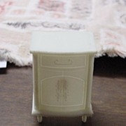 1960's Ivory Doll House Furniture End Table or Night Stand MPC