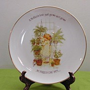 Holly Hobbie Collector's Plate 1975 MOTHERS DAY