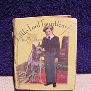 1936 Little Big Book -- Little Lord Fauntleroy -- Saalfield Publishing