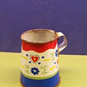 Doll House Tin Metal Watering Can Miniature