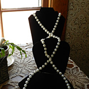 "Wonderful 70"" Vintage LARGE Bead Necklace"