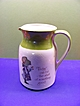 1970's Holly Hobbie Ceramic Pitcher with Measurements on Side
