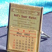 1950's Advertising Calendar Mirror village of Glen Elder, Kansas