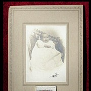 SOLD 1911 Cabinet Card Calendar Baby Girl in Christening Gown CDV signed by Photographer