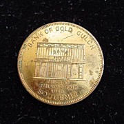 1949Chicago Railroad Fair Bank Of Gold Gulch Souvenir Coin Token