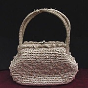Vintage Raffia beaded Purse