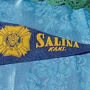 Veteran of Foreign Wars Felt Pennant  ~ Salina Kansas