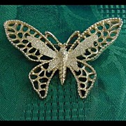 Sarah Coventry Signed Butterfly Pin