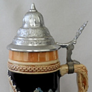 DBGM Germany Lidded Beer Stein with Swiss Music Box