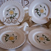 Theodore Haviland China Plates Camellia Set (4)