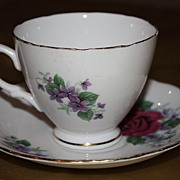 Vintage English China Royal Vale Cup Saucer Demitasse Set