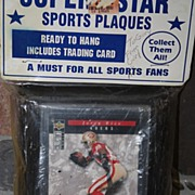 SALE Vintage Jerry Rice Plaque Trading Card in Original Plastic Packaging 49ers
