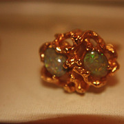 Vintage 14K Black Opal Cuff Links Dolan Bullock Men's D B D&B
