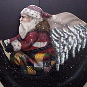 SALE Vintage Christmas Displays Decoration Large St. Nick Reindeer Santa