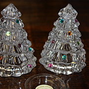 SALE Christmas Trees Lenox Crystal Lead Decorations