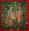 SALE French Woven Tapestry Medieval Large Millifleurs Design