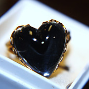 SALE Rare 1960s Sweetheart Mood Rings Heart Shaped Unused Original Box Brochure