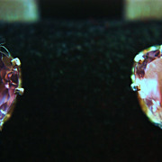 SALE Large Amethyst Stud Earrings Teardrop 2.50 carat 925