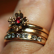 SALE Rare 14K Pink Diamond Engagement Ring Wedding Intense Pink Natural