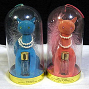 Pink & Blue Max Factor Perfume Cats