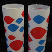 2 Glass  Dairy Queen Tumblers