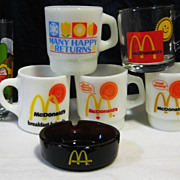 SOLD Lot of 5 Different McDonald's Fire King Mugs Tumbler & More - 10% OFF Everything in APRIL