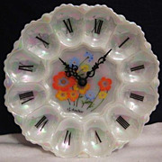 Anchor Hocking Aurora & Wild Flowers Egg Plate Clock