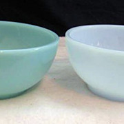 2 Fire King Turquoise & Azurite Bowls