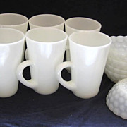 6 Fire King Mugs and 6  Bowls