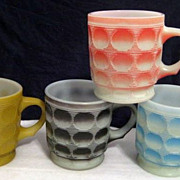 SOLD 4 Fire King Colorful Camelot Mugs - 10% OFF Everything in APRIL!!