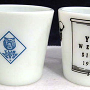 SOLD 2 Pyrex Mugs Boyscouts & Eye Glasses - 10% OFF Everything in APRIL!!