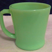 SOLD Fire King Jadeite Mug - as is      10% OFF Everything in APRIL!!