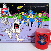 SOLD Fire King Captain Crunch Mug & Puzzle