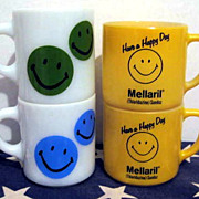 SOLD 4 Smiley Face Mugs