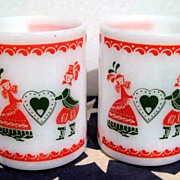 2 Mugs Couple with Hearts