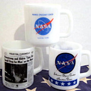 SOLD 3 NASA Moon Landing Mugs - see pictures
