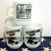 SOLD 3 Fire King Souvenir Mugs - see pictures