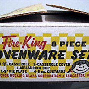 SOLD Fire King Box Set with Factory Labels - Unused