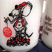 Lot of 5 Character Mugs - Mouse on Rollerskates Mickey Mouse Raggedy Ann Smokey