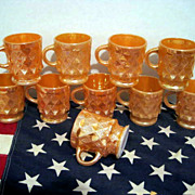 10 Fire King Kimberly Mugs