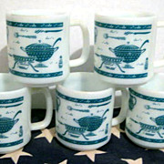 5 Hazel Atlas Kitchen Aide Mugs - see pictures