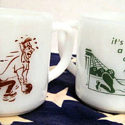 2 Federal  Bowling Mugs - see pictures